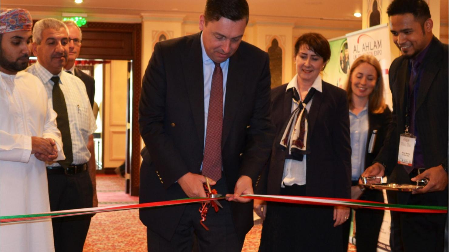 Ambassador opens Omani Expo for UK education