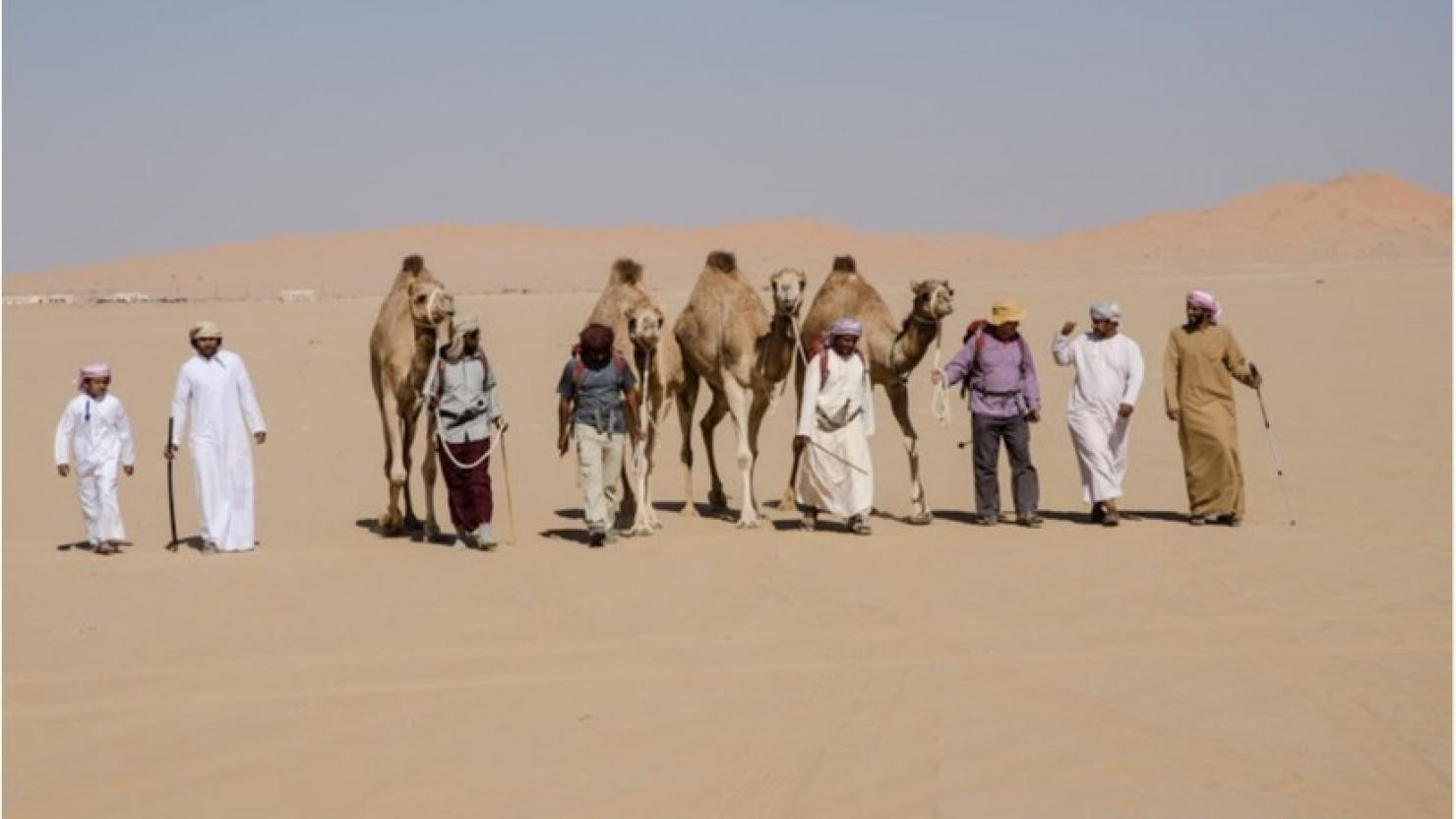 Historic desert trek reaches Saudi border
