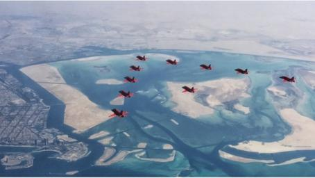 Red Arrows aerobatic team ready for Muscat display
